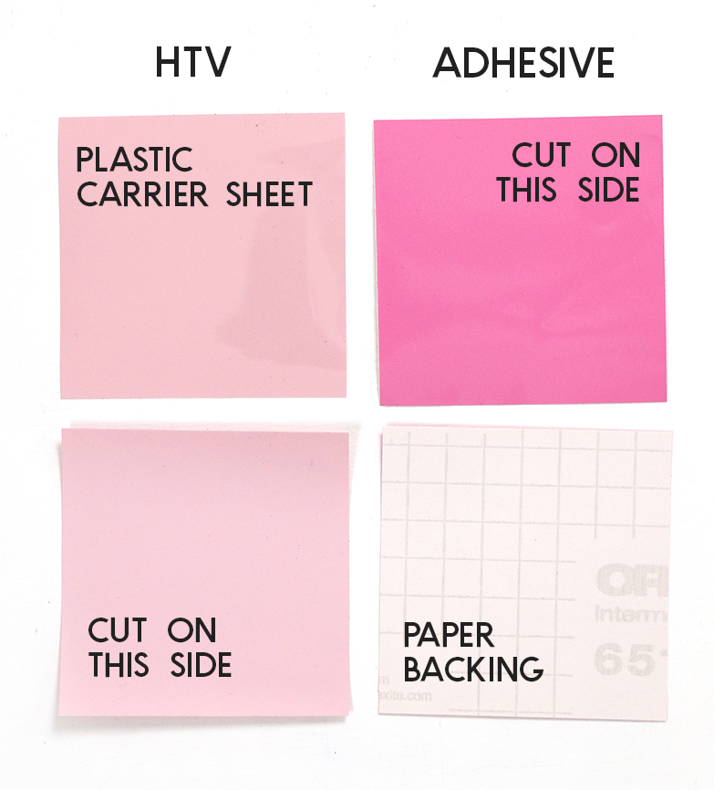 comparing heat transfer vinyl and adhesive vinyl