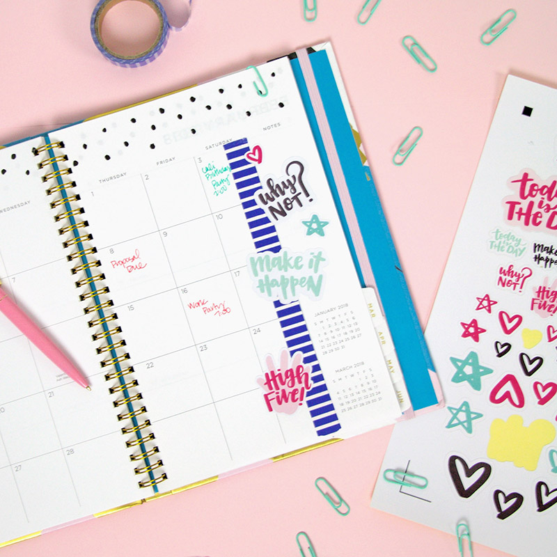How to Make Stickers with your Silhouette: DIY Planner Stickers