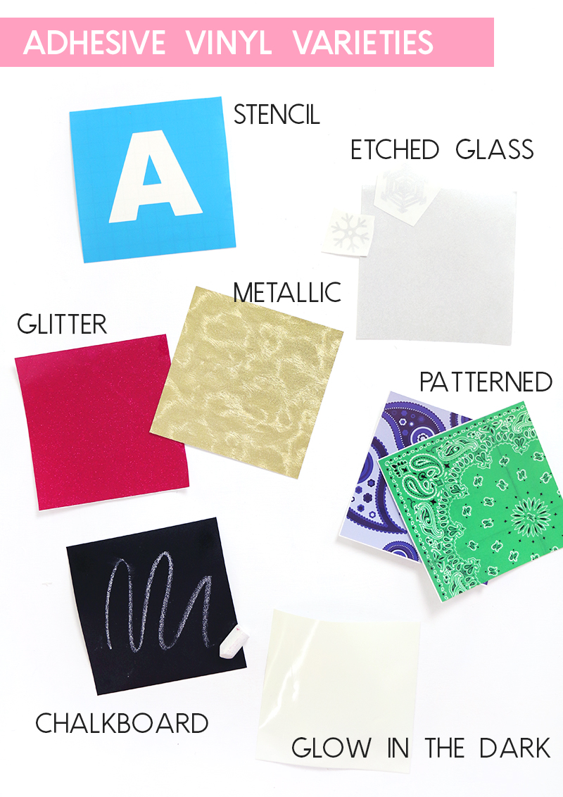 different kinds of adhesive craft vinyl