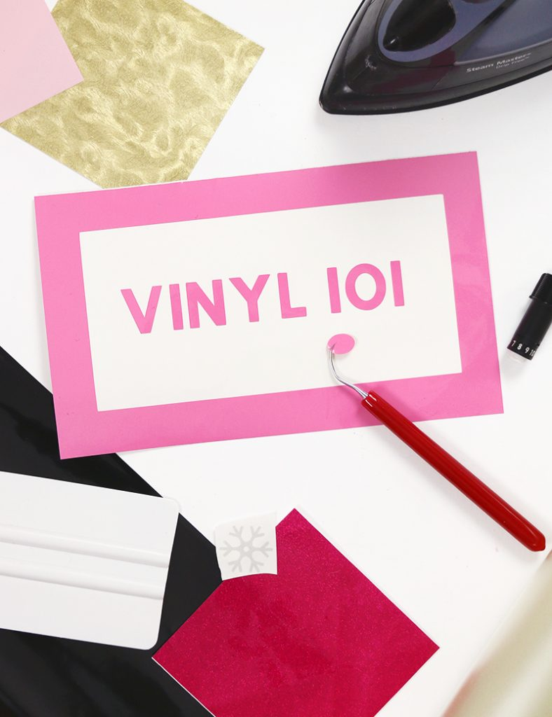 Vinyl 101 - A Beginner's Guide to Cutting Craft Vinyl with the Silhouette or Cricut