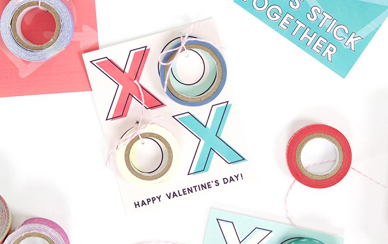 Free Printable Washi Tape Valentines