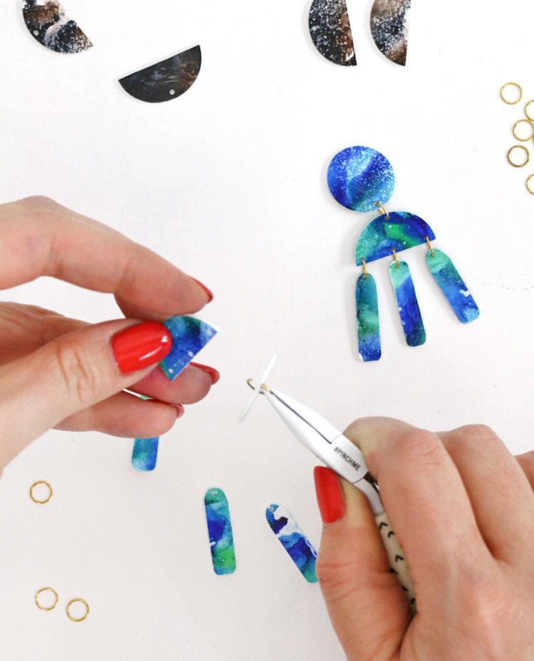 assemble diy statement earrings