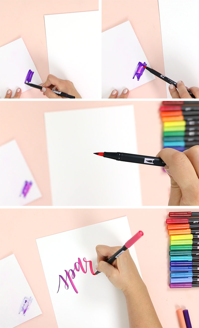 how to blend tombow markers with blending palette
