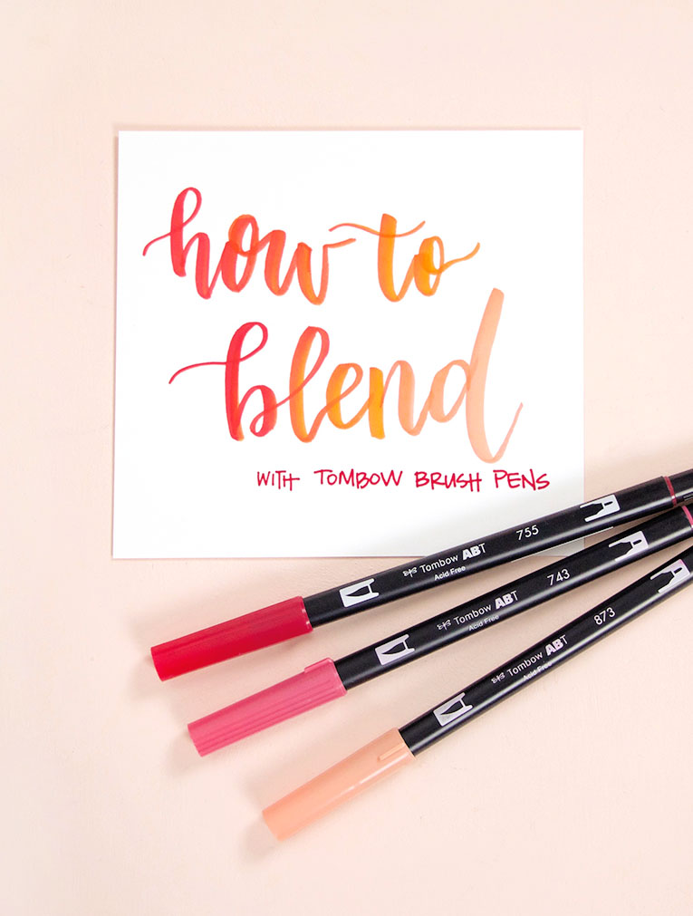 how to blend lettering with tombow brush pens