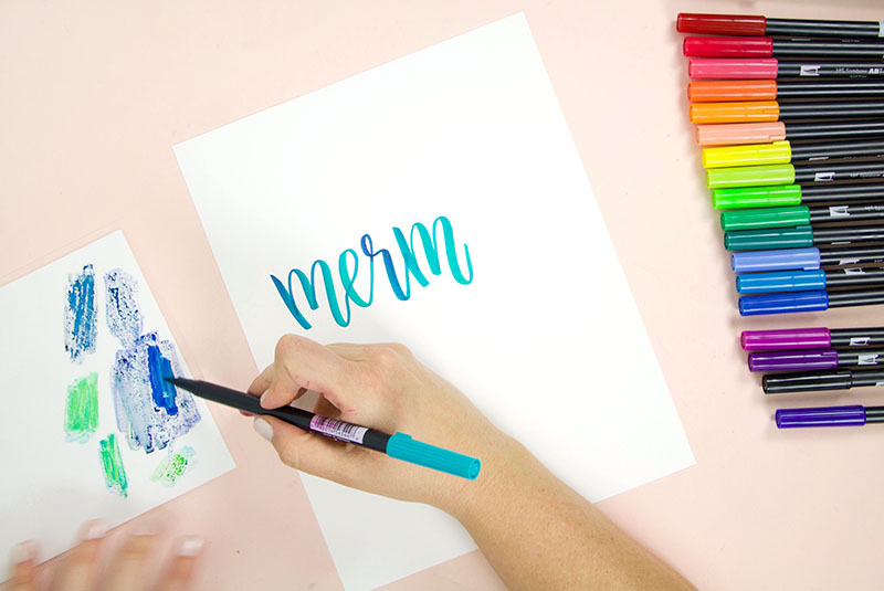 tombow brush lettering tutorial