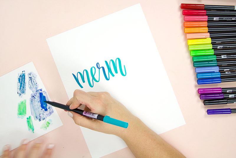 tombow brush lettering tutorial