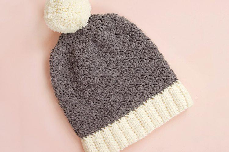 Slouchy Shell Crochet Hat Pattern: Free Crochet Beanie Pattern