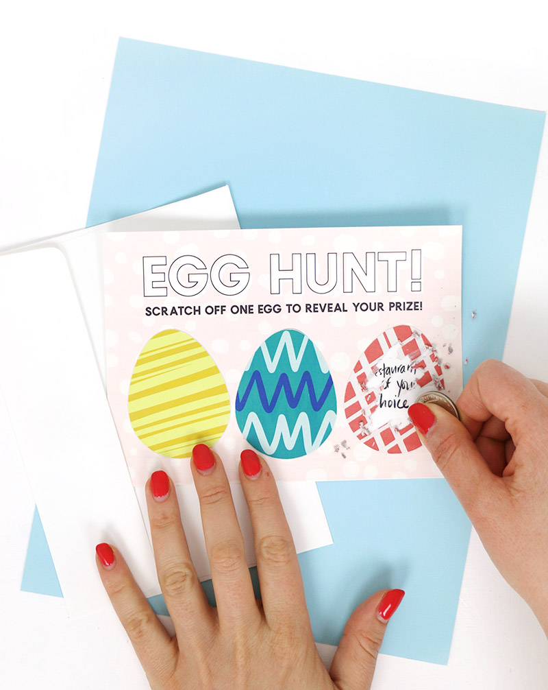 how to make colorful diy scratch off cards plus free easter printables