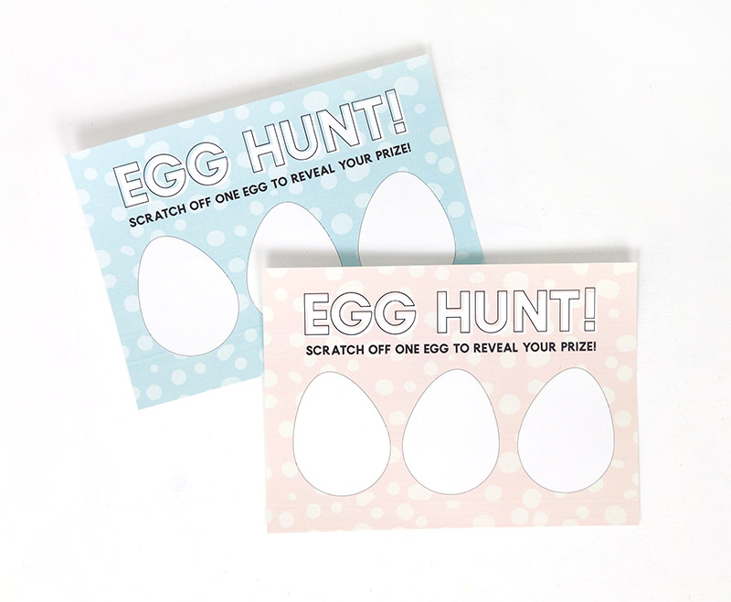 easter printable egg hunt scratch off cards