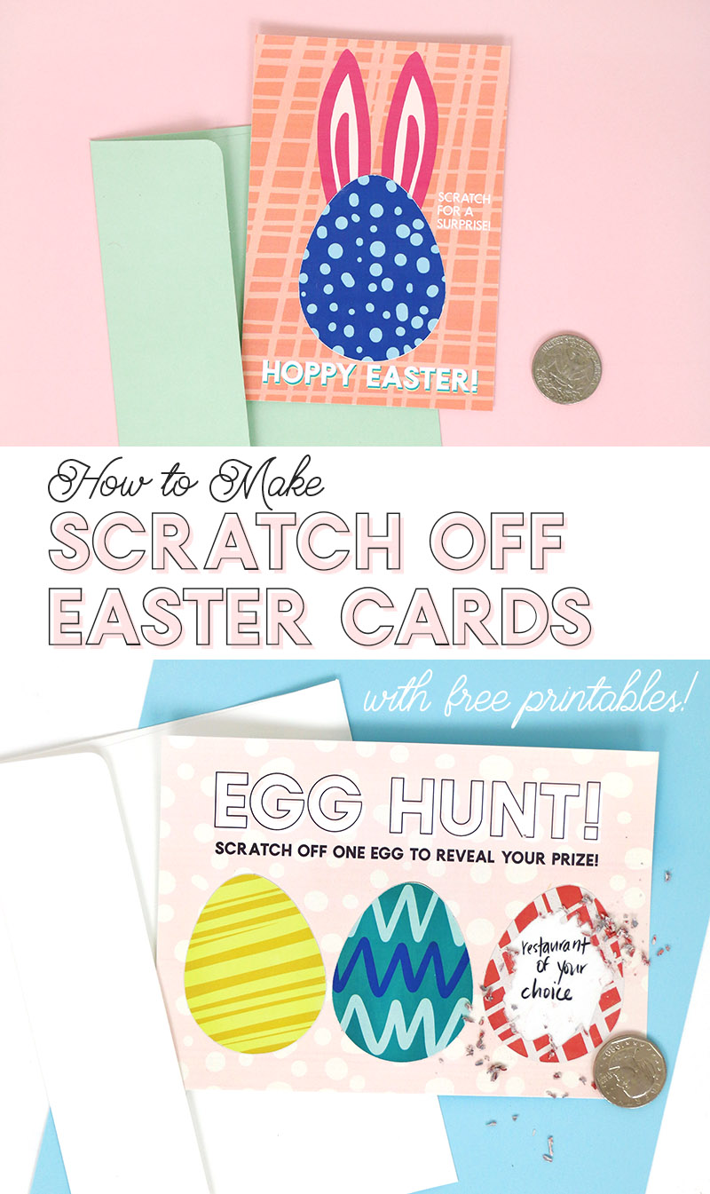 how to make diy scratch off cards with colors and patterns - free printable easter cards
