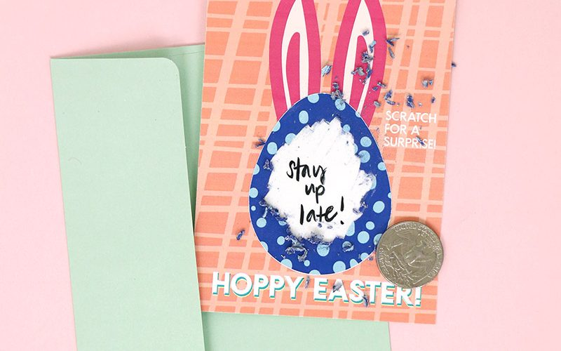 How to Easily Make DIY Scratch Off Cards in Color! (Plus Free Easter Printable)