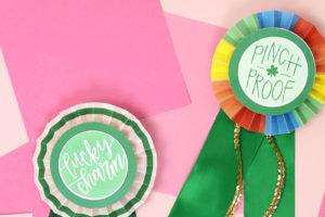 DIY Paper Award Ribbons for St. Patrick's Day – Free Printables!
