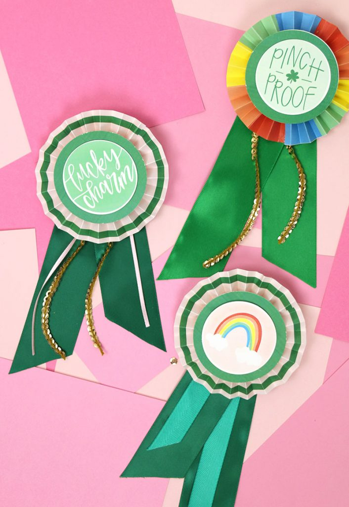 DIY Paper Award Ribbons for St. Patrick's Day – Free Printables!