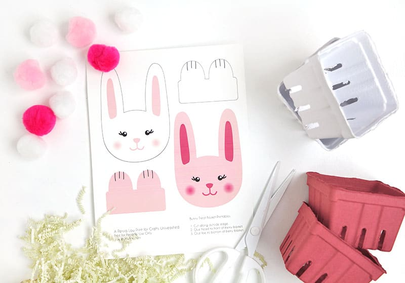 diy paper bunny basket supplies