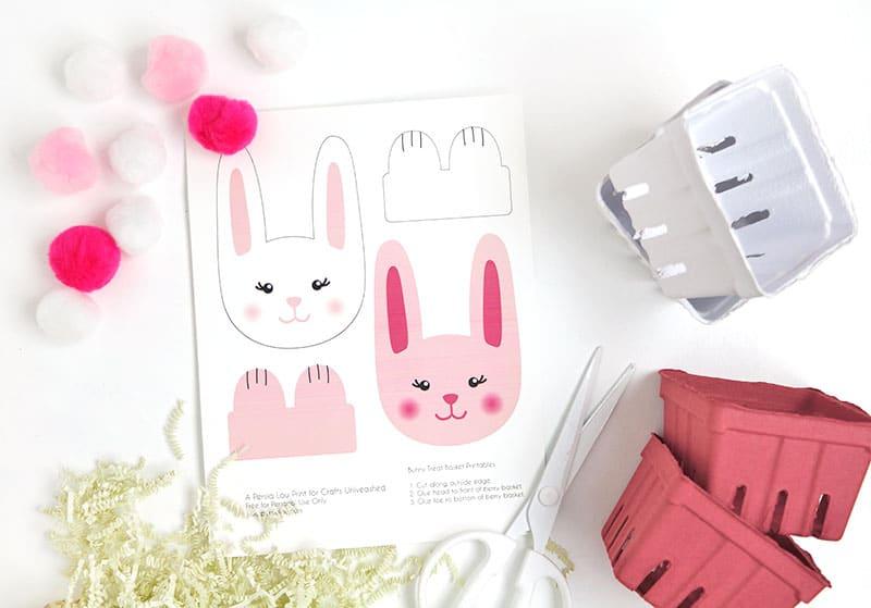 diy paper bunny basket supplies