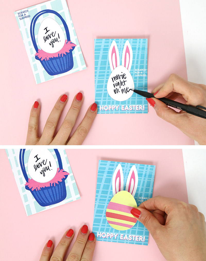 diy printable easter scratch off cards