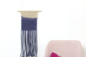 Simple Dip Dyed DIY Macrame Wall Hanging