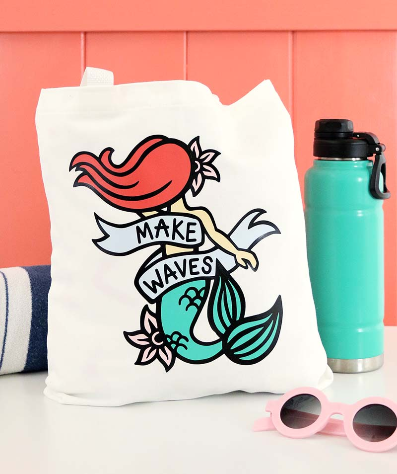 How to Cut by Color with the Silhouette: DIY Mermaid Bag