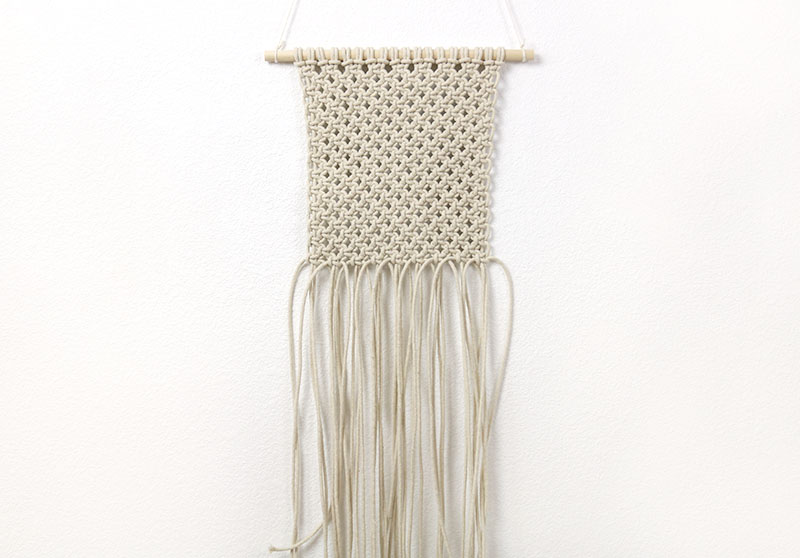 finished macrame wall hanging