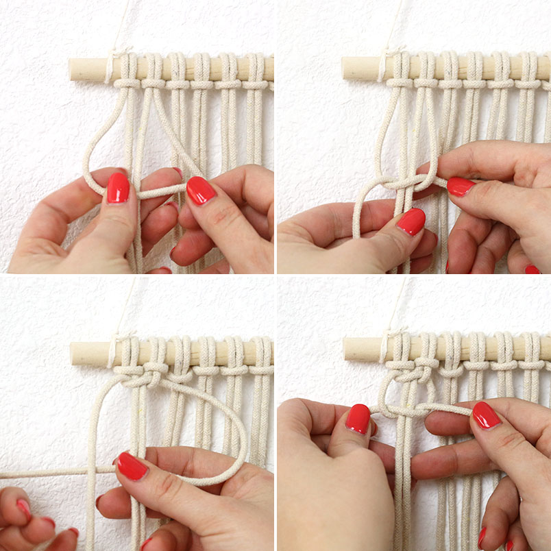 how to make a macrame square knot
