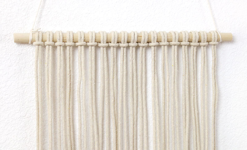 step one simple diy macrame wall hanging