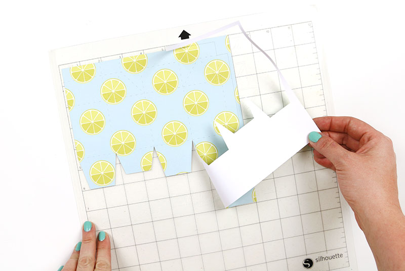 6becf3fff3ea I used my Silhouette to cut out the box shape for me. The cut file includes  perforated fold lines