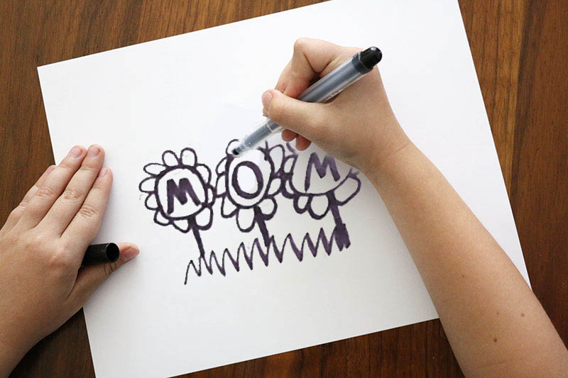 drawing mom - diy mother's day mug