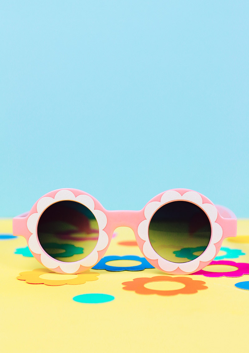 diy custom flower sunglasses