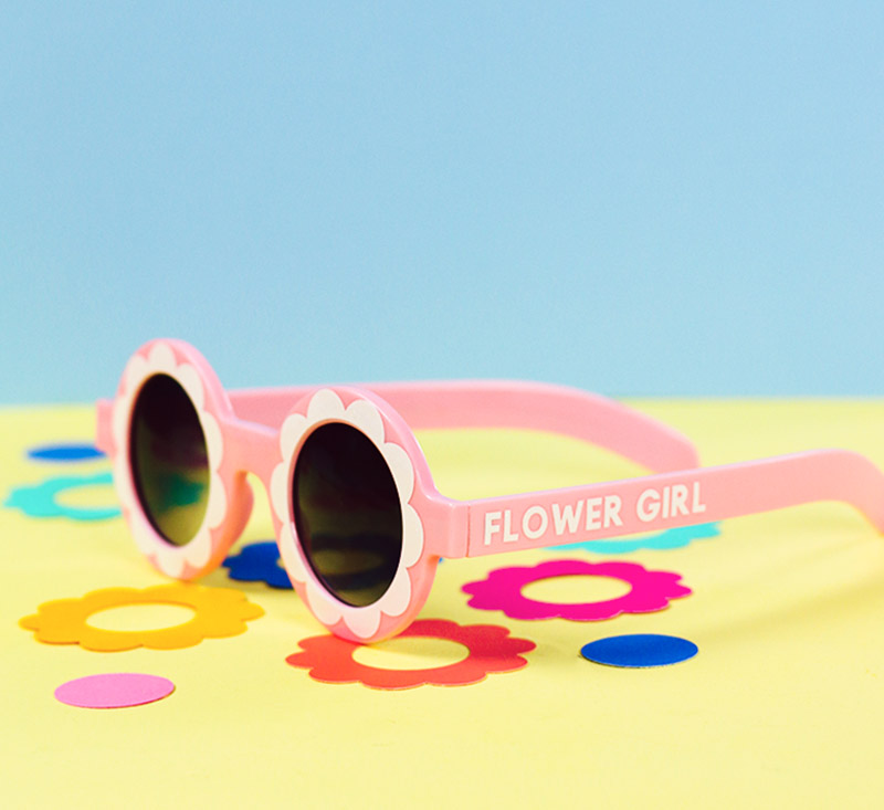 diy flower girl custom sunglasses