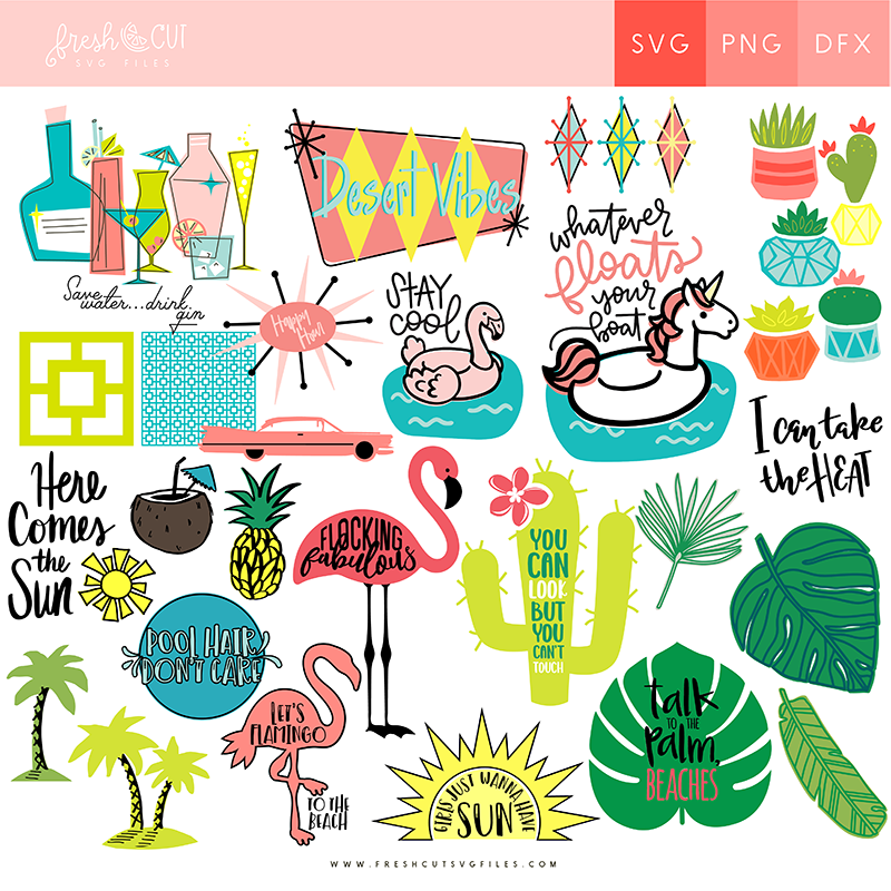 palm springs svg cut files