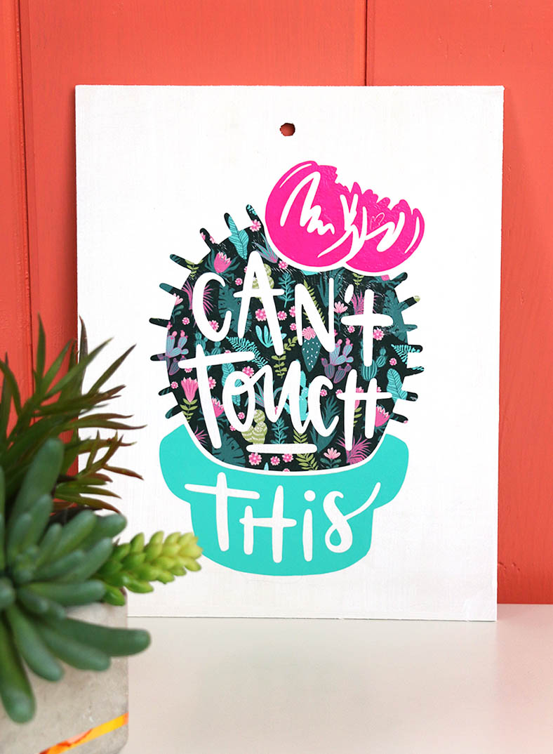 diy can't touch this sign cactus cut file