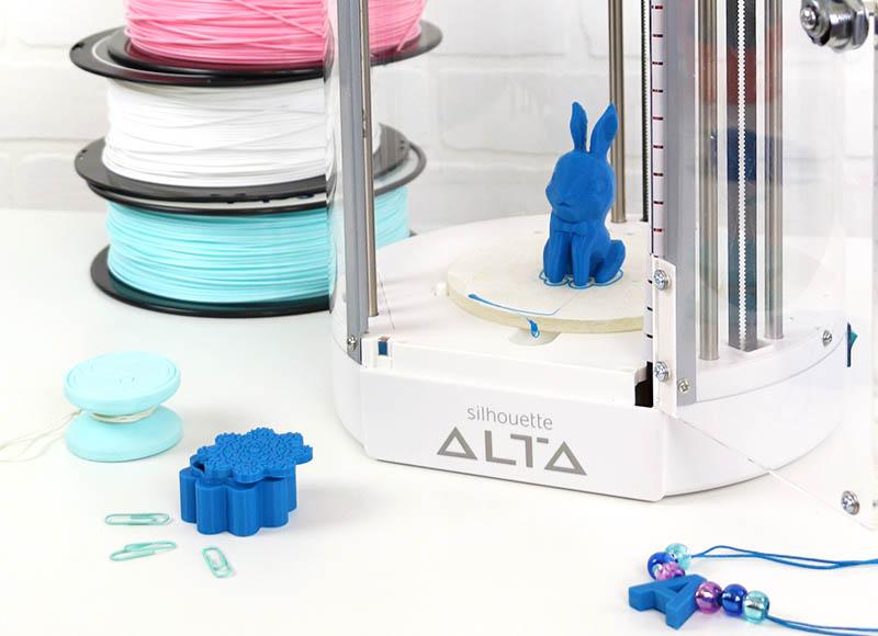 bunny 3d printer silhouette alta