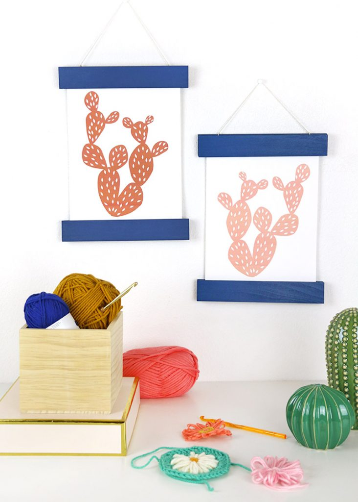 colorful diy magnetic print hangers