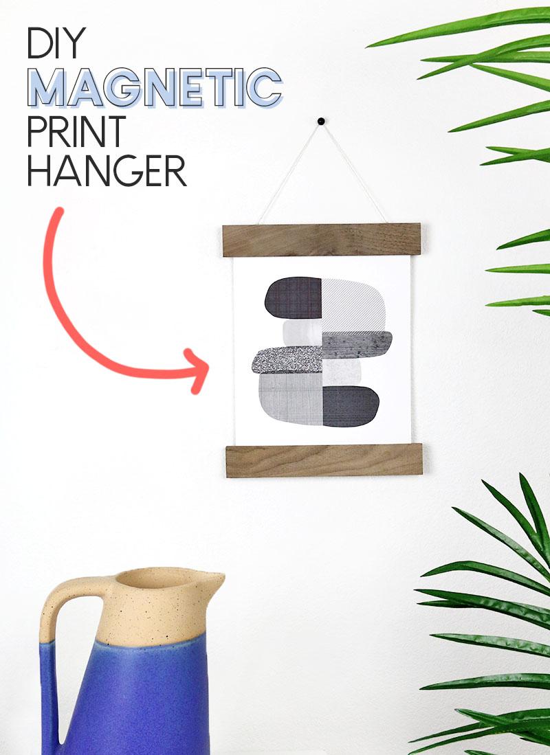DIY magnetic print hanger
