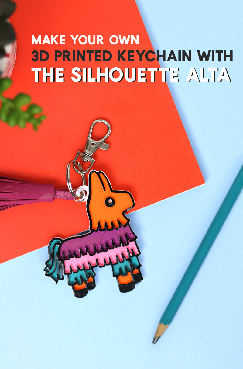 make a 3d printed pinata keychain