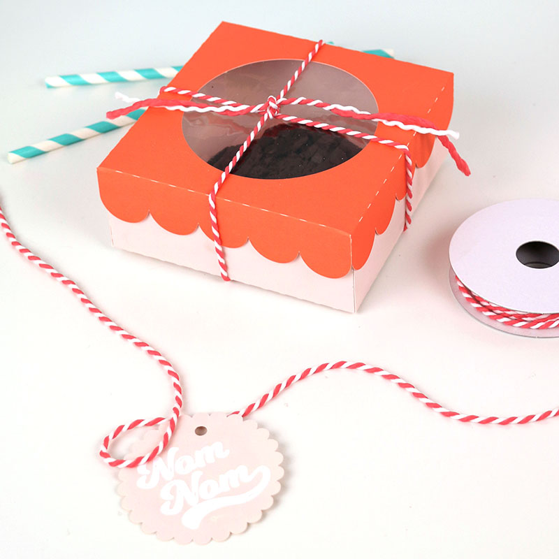 diy paper window cookie box