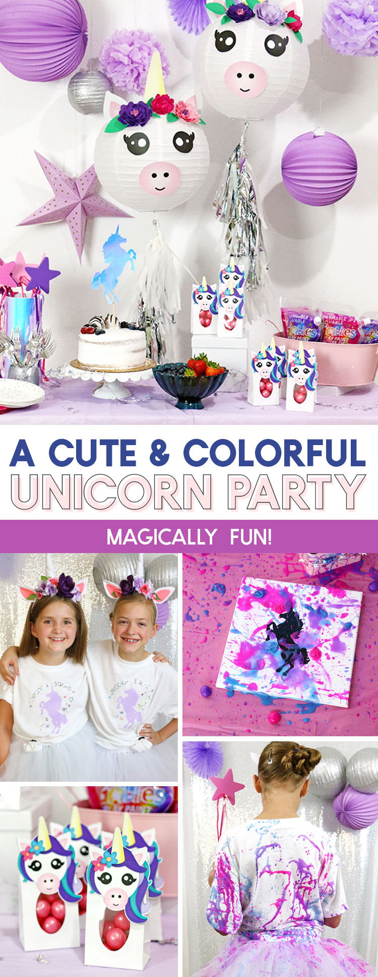 A Cute and Colorful DIY Unicorn Party with Goblies Paint - Persia Lou