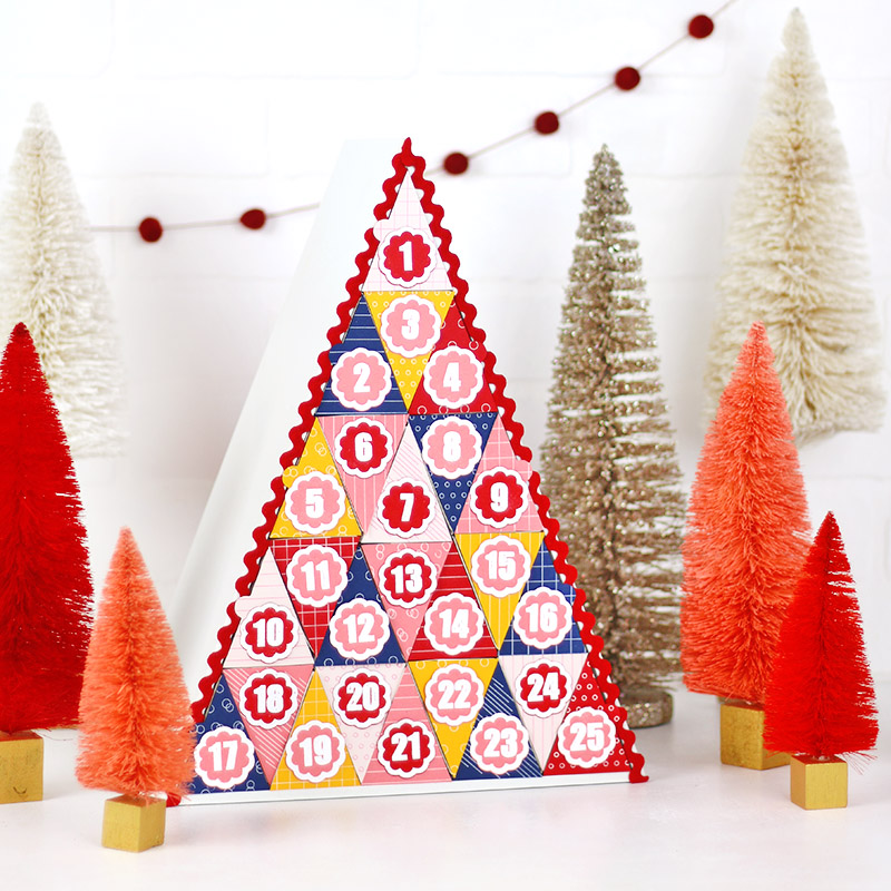 colorful DIY christmas advent calendar