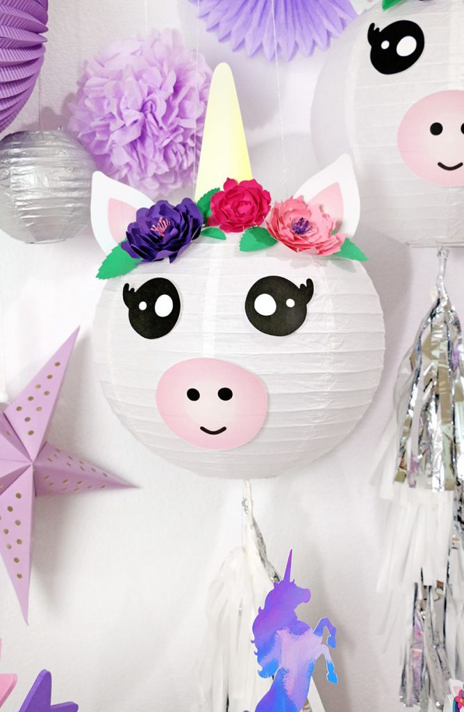 DIY Unicorn Paper Lantern Party Decorations