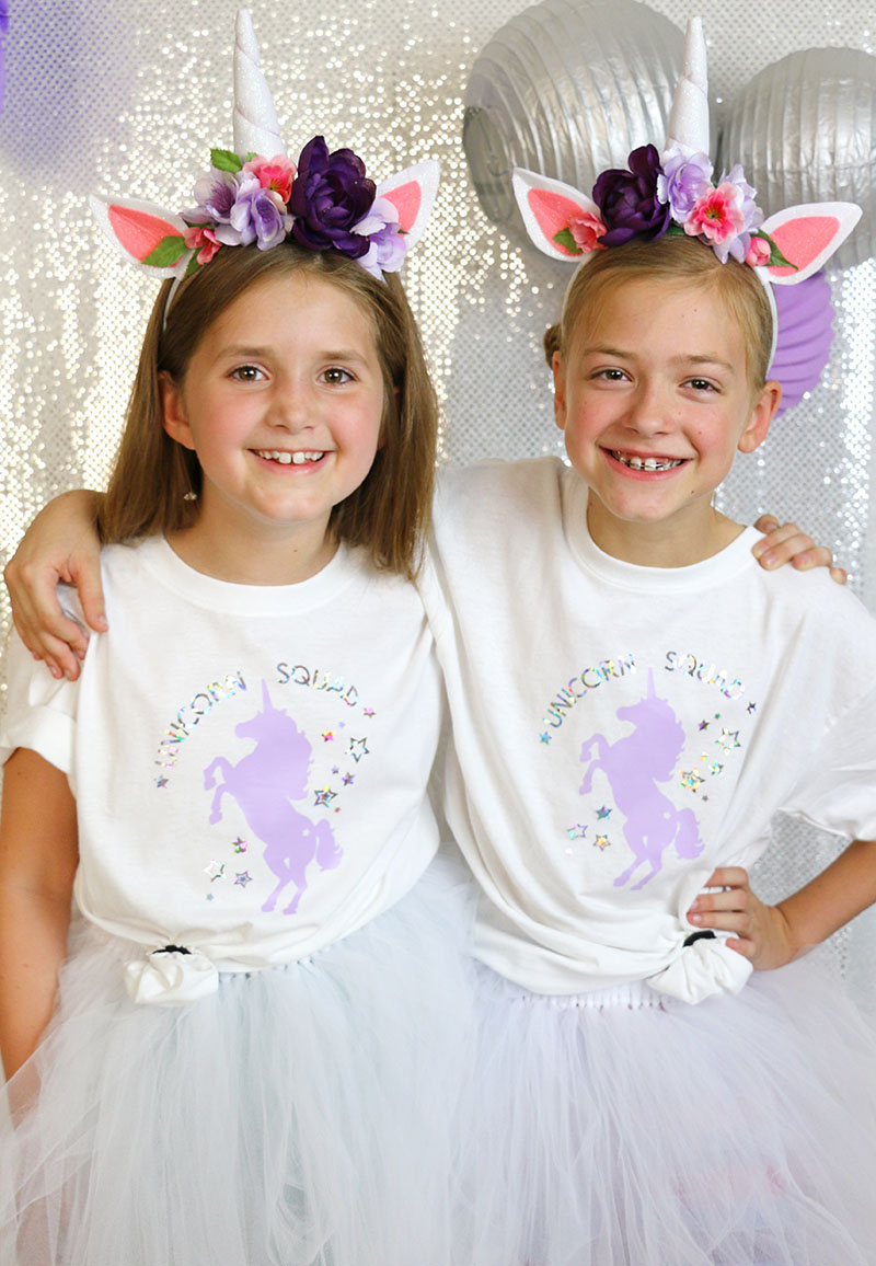 diy unicorn squad party outfits