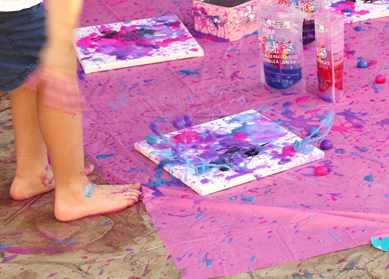 goblies splatter diy unicorn art for unicorn party activity