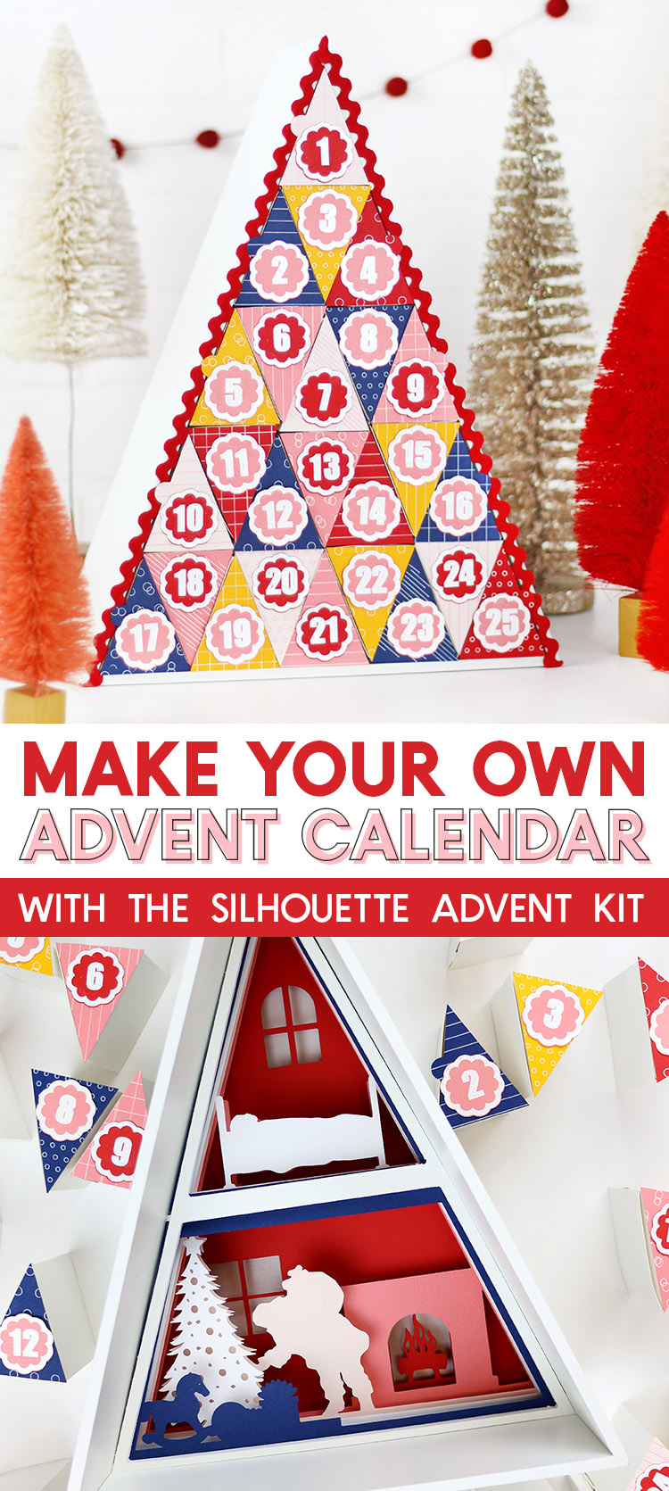 how to make a silhouette advent calendar diy tutorial christmas advent