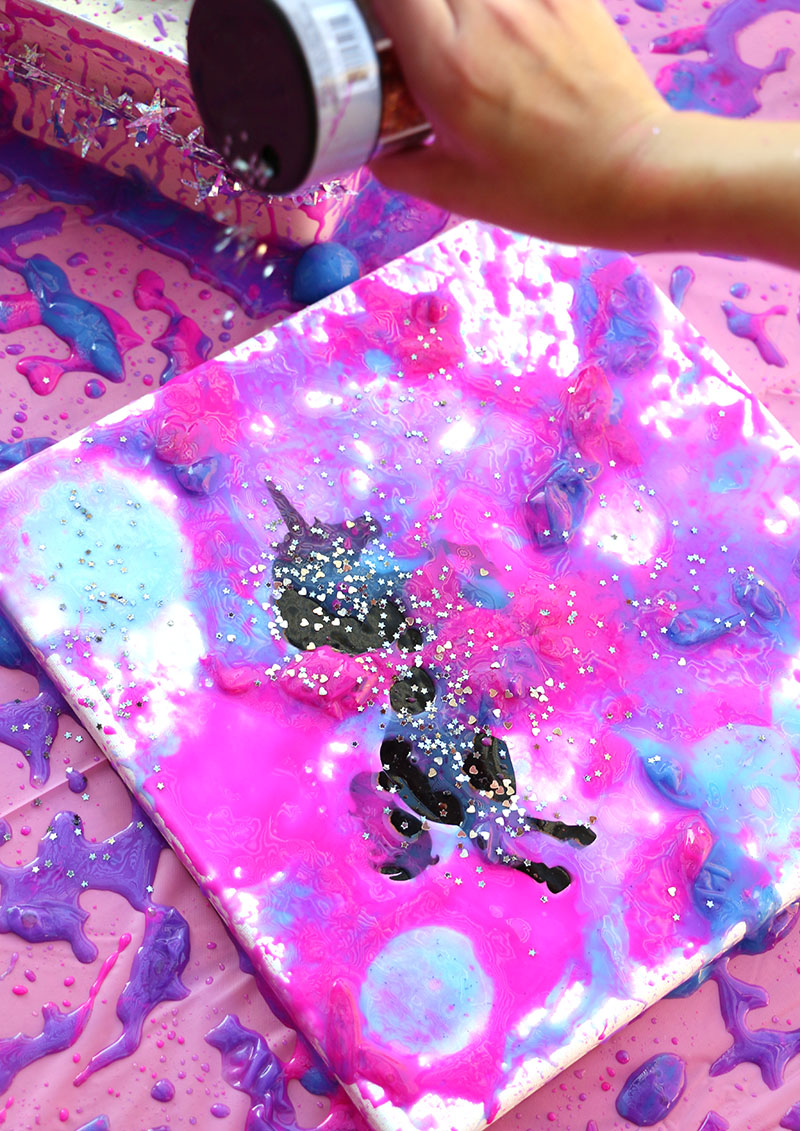 sprinkle on glitter gobies unicorn art