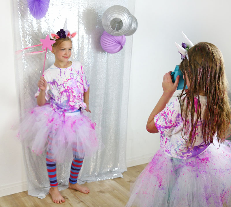 unicorn party photo booth