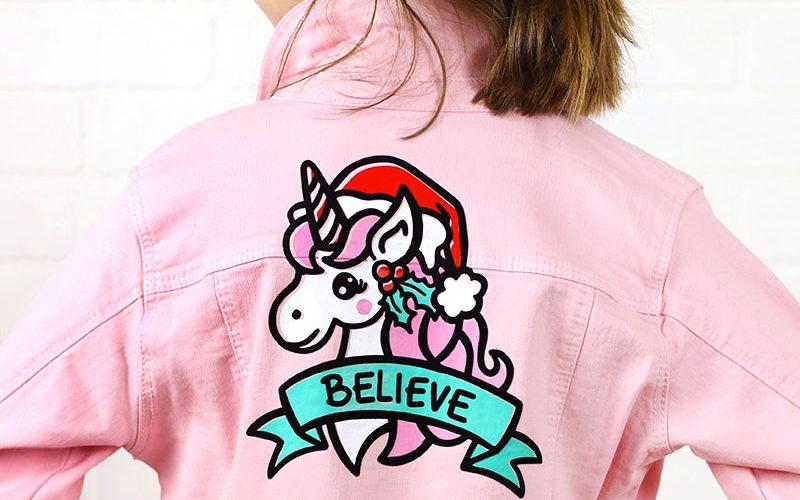 DIY Christmas Unicorn Jacket