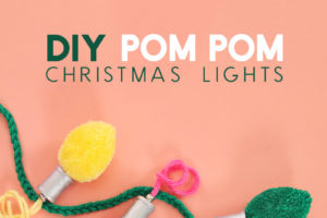 DIY Christmas Light Pom Poms