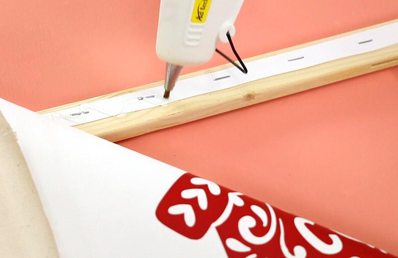 glue on frame for diy reverse canvas