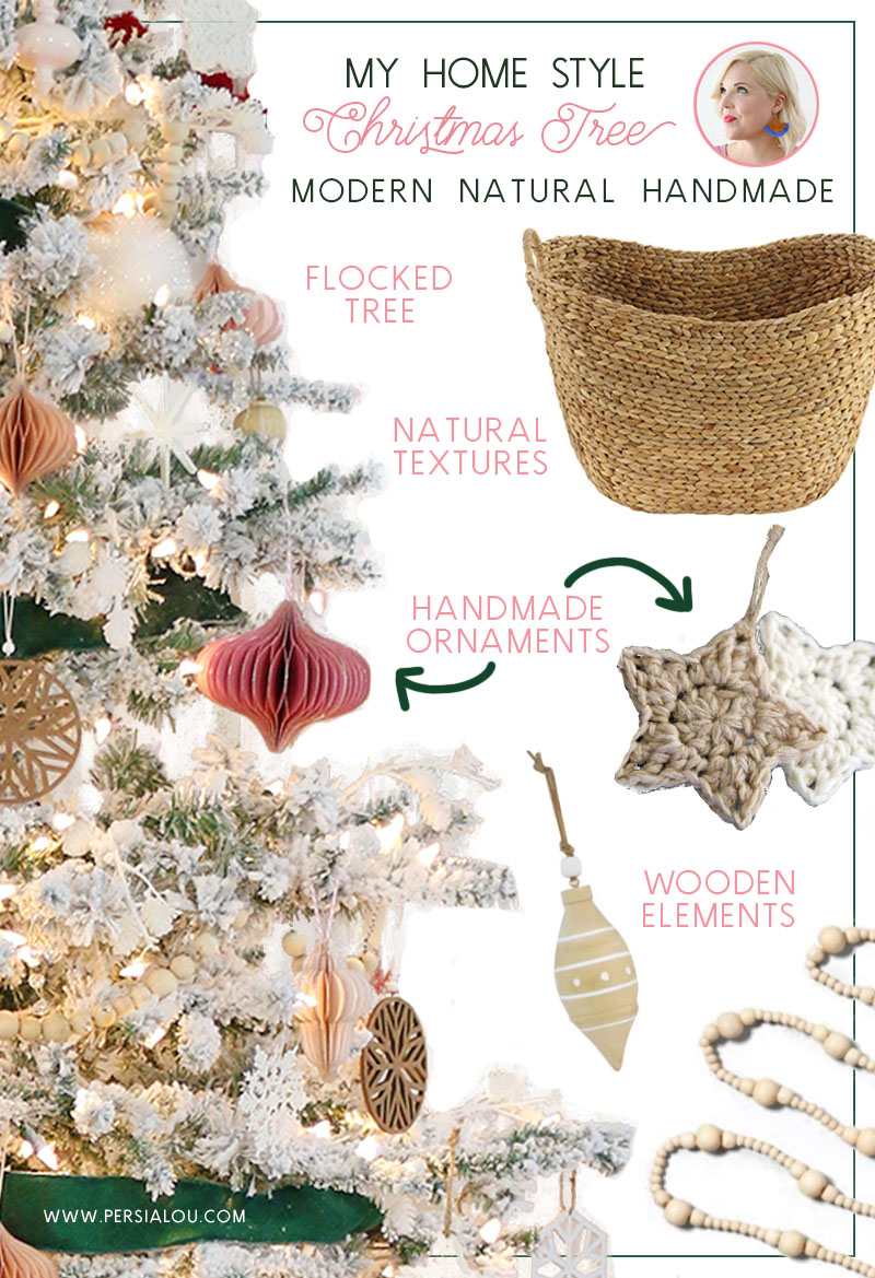 modern natural handmade christmas tree