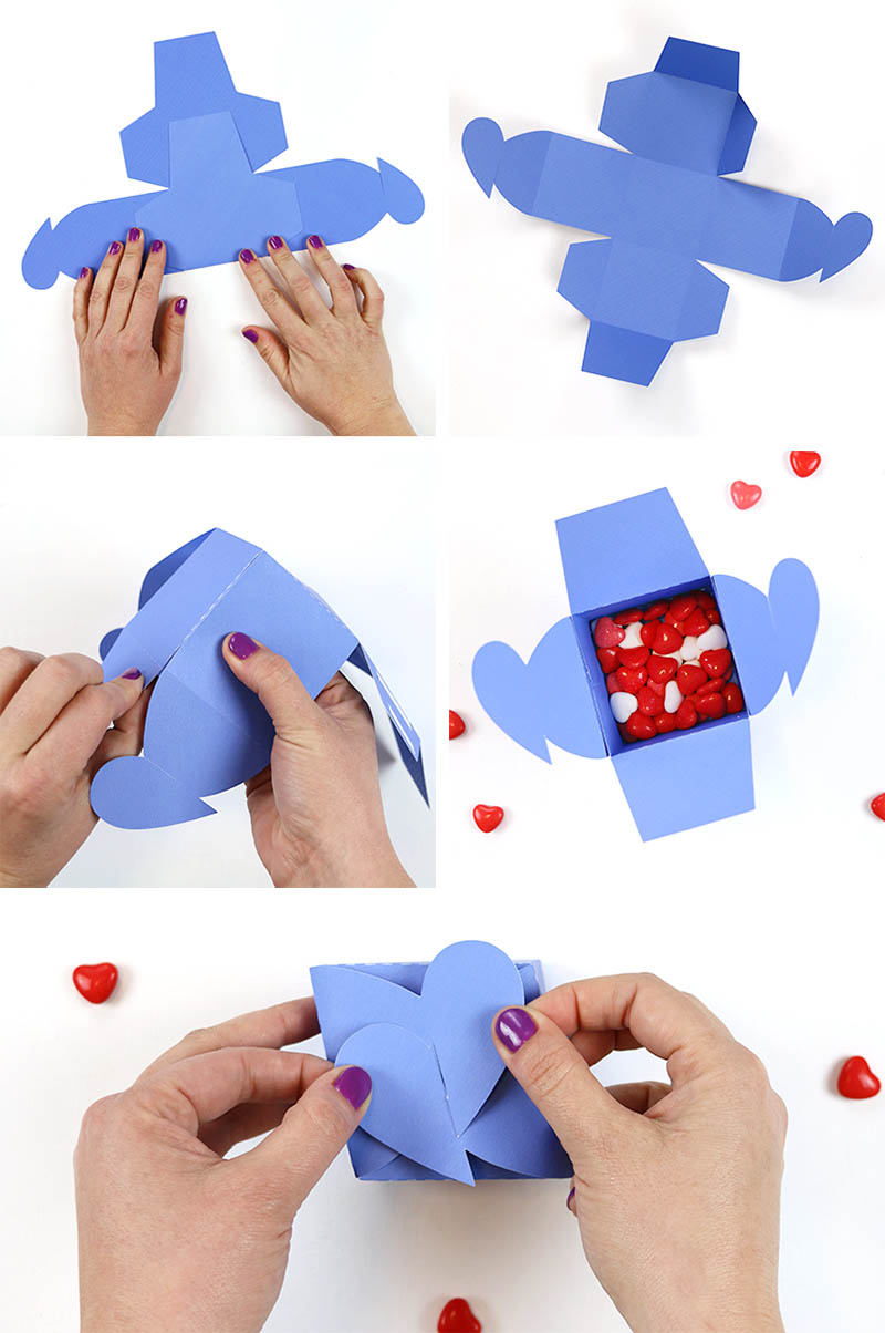 assemble heart tab box