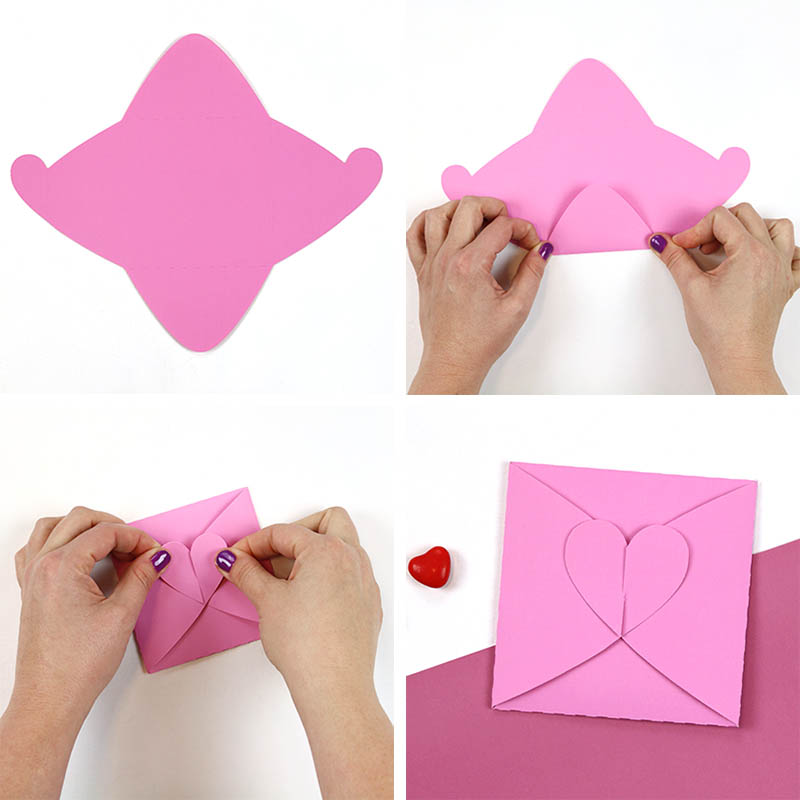 assemble heart tab envelope